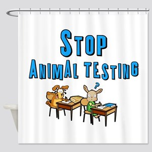 Stop Animal Testing Shower Curtain