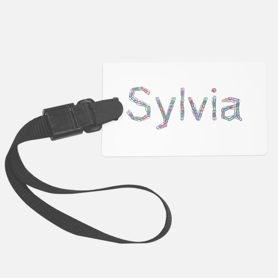 Sylvia Paper Clips Luggage Tag