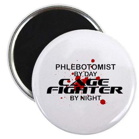 """Phlebotomist Cage Fighter 2.25"""" Magnet (100 pack)"""