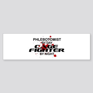 Phlebotomist Cage Fighter Sticker (Bumper)