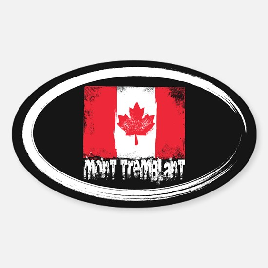 Mont-Tremblant Grunge Flag Sticker (Oval)
