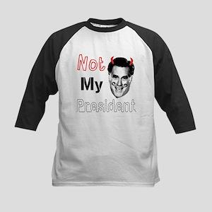 Mitt Romney Is NOT My President Kids Baseball Jers