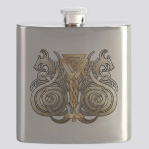 Norse Valknut Dragons Flask