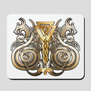 Norse Valknut Dragons Mousepad