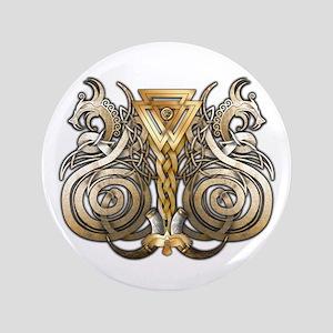 "Norse Valknut Dragons 3.5"" Button"