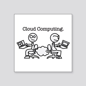 "Cloud Computing Square Sticker 3"" x 3"""