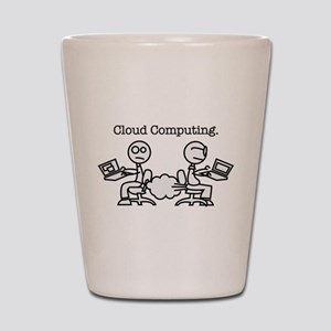 Cloud Computing Shot Glass