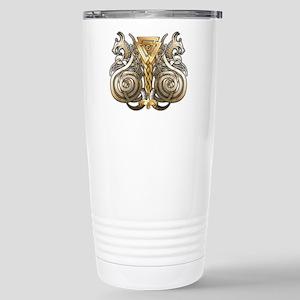 Norse Valknut Dragons Stainless Steel Travel Mug