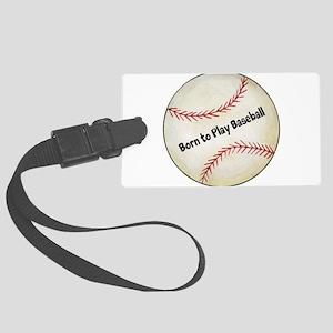 Baseball Large Luggage Tag