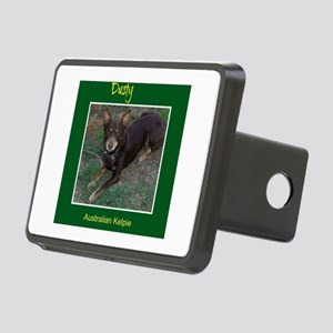 Dusty Australian Kelpie Rectangular Hitch Cover