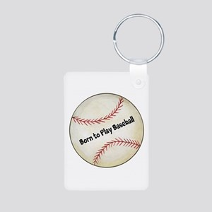 Baseball Aluminum Photo Keychain