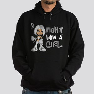 Fight Like a Girl 42.8 Lung Cancer Hoodie (dark)