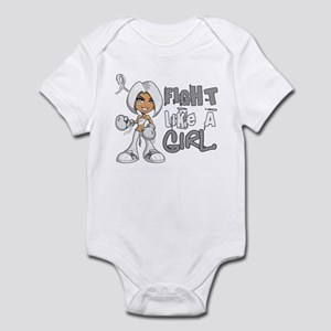 Fight Like a Girl 42.8 Lung Cancer Infant Bodysuit