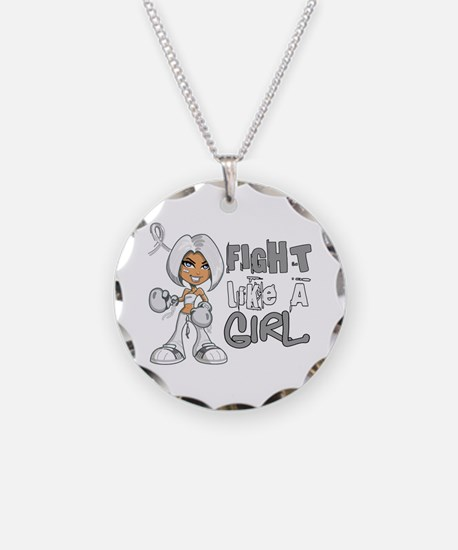 Fight Like a Girl 42.8 Lung Cancer Necklace