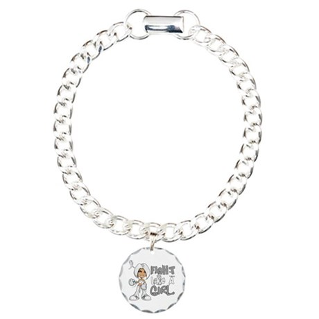Fight Like a Girl 42.8 Lung Cancer Charm Bracelet,