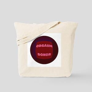 ORGASM DONOR RED ENCASED Tote Bag