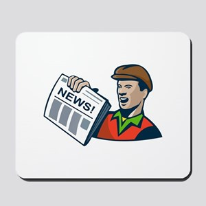 Newsboy Newspaper Delivery Retro Mousepad