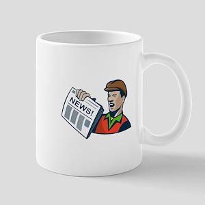 Newsboy Newspaper Delivery Retro Mug