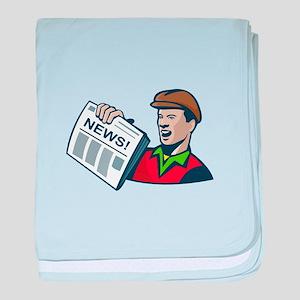 Newsboy Newspaper Delivery Retro baby blanket