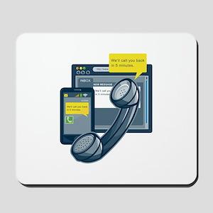 Telephone Smartphone Website Call Back Mousepad