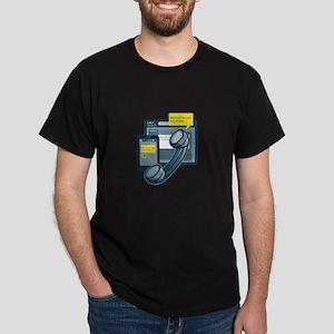 Telephone Smartphone Website Call Back Dark T-Shir