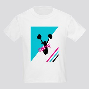 Aqua | Pink Cheerleader Cheer T-Shirt