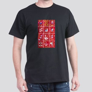 Twelve days of Christmas Dark T-Shirt