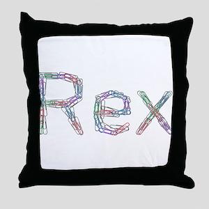 Rex Paper Clips Throw Pillow
