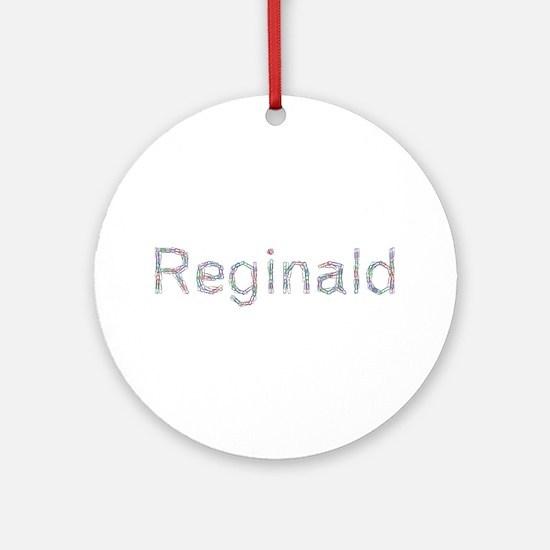 Reginald Paper Clips Round Ornament