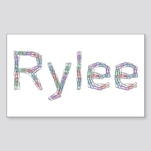 Rylee Paper Clips Rectangle Sticker