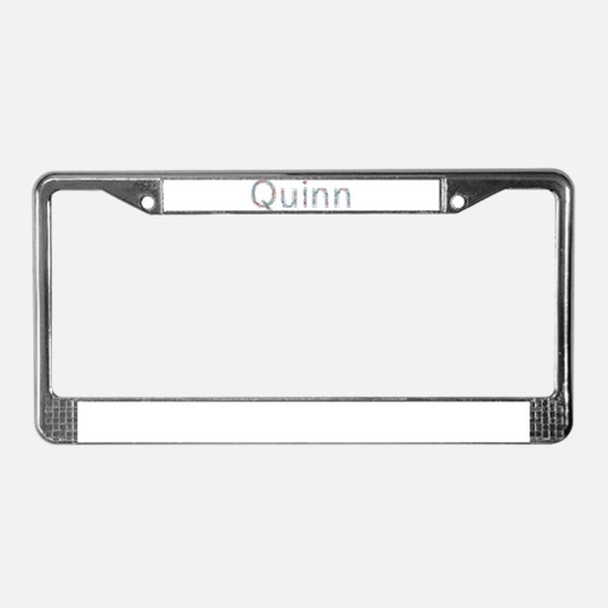 Quinn Paper Clips License Plate Frame