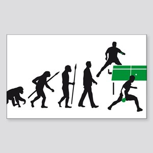 evolution table tennis player Sticker (Rectangle)