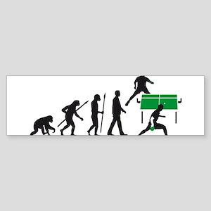 evolution table tennis player Sticker (Bumper)
