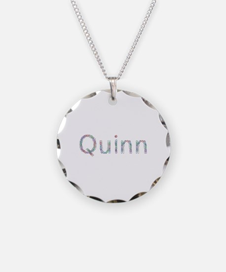 Quinn Paper Clips Necklace Circle Charm