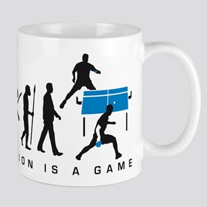 evolution table tennis player Mug