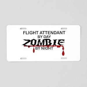 Flight Attendant Zombie Aluminum License Plate
