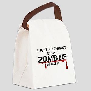 Flight Attendant Zombie Canvas Lunch Bag