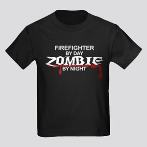 Firefighter Zombie Kids Dark T-Shirt