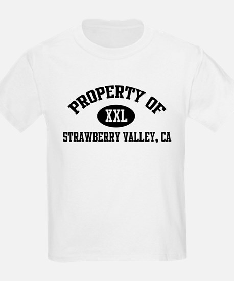 Property of STRAWBERRY VALLEY Kids T-Shirt