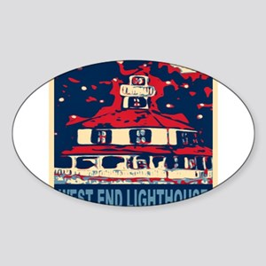 New Orleans Lighthouse Sticker (Oval)