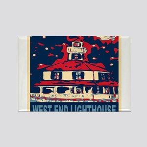 New Orleans Lighthouse Rectangle Magnet