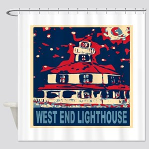 New Orleans Lighthouse Shower Curtain