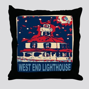 New Orleans Lighthouse Throw Pillow