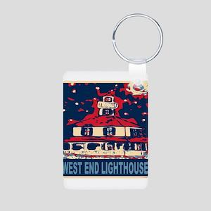 New Orleans Lighthouse Aluminum Photo Keychain