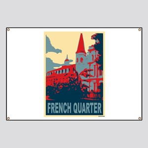 French Quarter in Red and Blue Banner