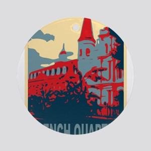 French Quarter in Red and Blue Ornament (Round)