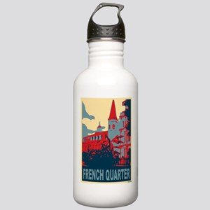 French Quarter in Red and Blue Stainless Water Bot