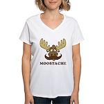 Moostache Women's V-Neck T-Shirt