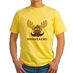 Moostache Yellow T-Shirt