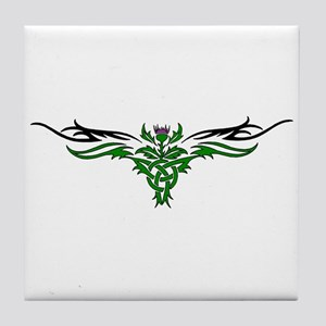 Tribal Thistle Tile Coaster